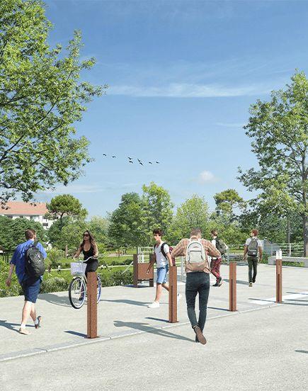 Une piste cyclable en coeur d'agglomération